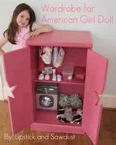 Doll Clothes Wardrobe by White Wardrobe For American Doll Diy Projects