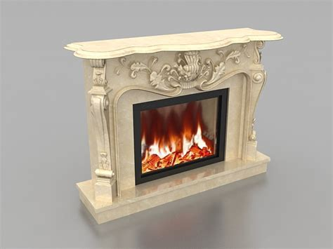 Fireplace 3d by Carved Marble Fireplace 3d Model 3ds Max Files Free