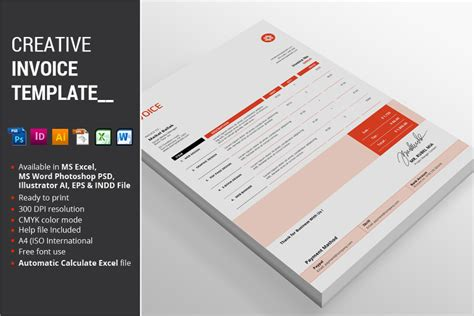 creative invoice template 15 creative template psd design trends
