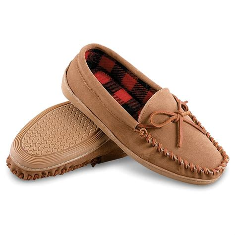 mens slippers for sale guide gear s leather trapper moccasins 42435