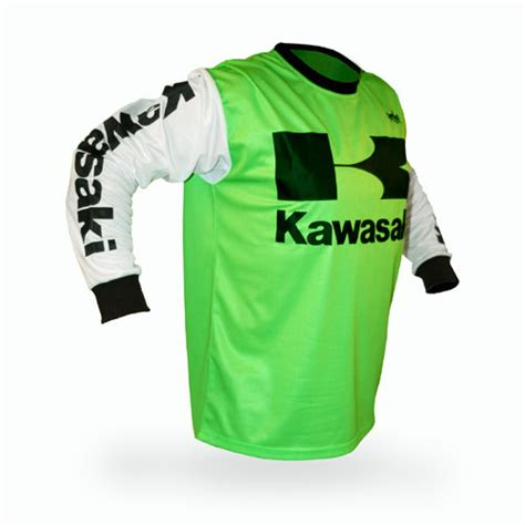 retro motocross jersey vintage style kawasaki motocross jersey mx enduro ahrma