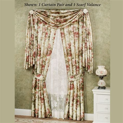 scarf curtain curtains and valances casual cottage