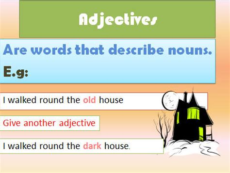 adjectives worksheets ppt adjectives powerpoint presentation