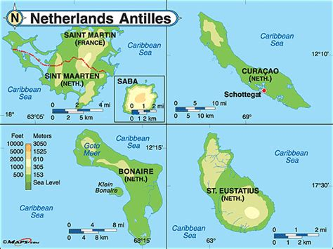 netherlands antilles map netherlands antilles physical map by maps from maps