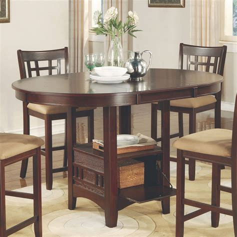 collection in tall dining table set with room best regarding stylish furniture counter high dining sets counter height table