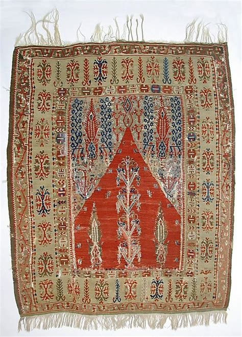 warp and weft rugs carpet date 19th century geography turkey culture islamic medium wool warp and weft metal