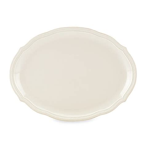lenox perle bead white buy lenox 174 perle bead 16 inch oval platter in white