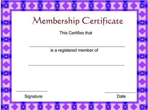 sle stock certificate template membership certificates templates 28 images church