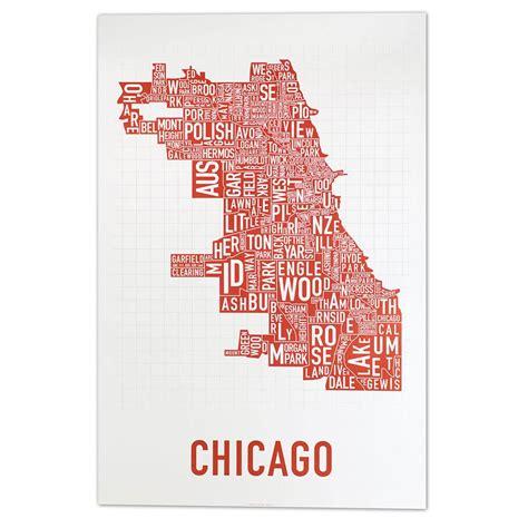 ukrainian chicago map chicago neighborhoods map poster in spicy chicago