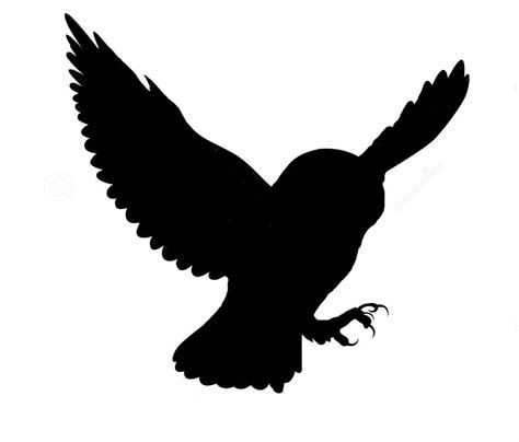 flying owl clipart owl flying silhouettes clipart best