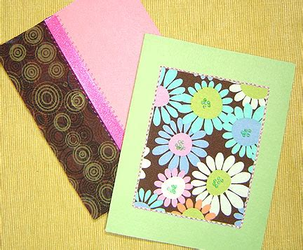 greeting card crafts projects craftypod greeting cards with fabric yarn and other