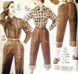 Women s 1950s pants cigarette capri jeans fashion history