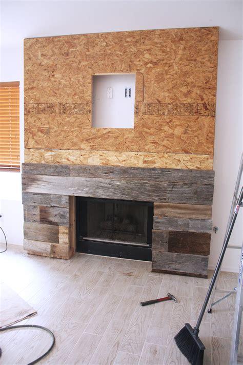diy reclaimed wood fireplace kristi murphy do it