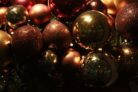 christmas decorations balls shiny public domain pictures
