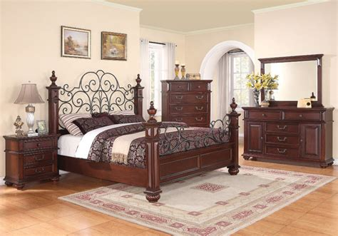 eastern king bedroom sets kessner 5pc eastern king bedroom set in cherry finish