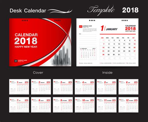 granica mafalda 2018 desktop calendar red set desk calendar 2018 template design red cover set of 12 mon