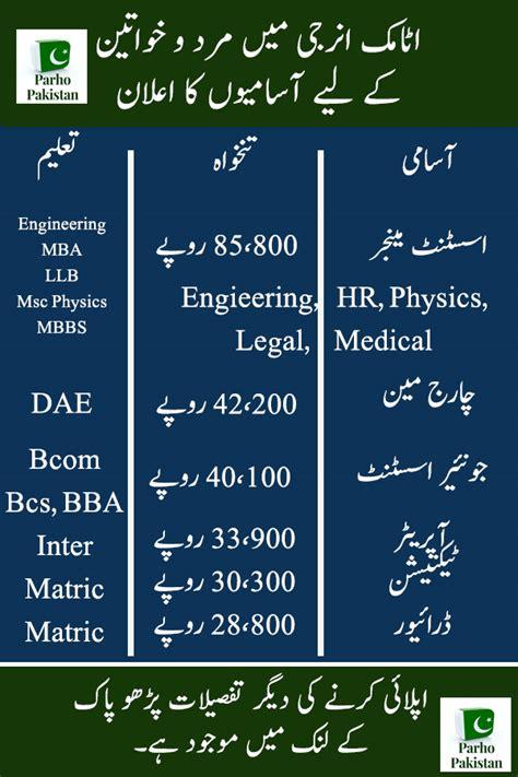 pakistan atomic energy jobs  careerjobs latest