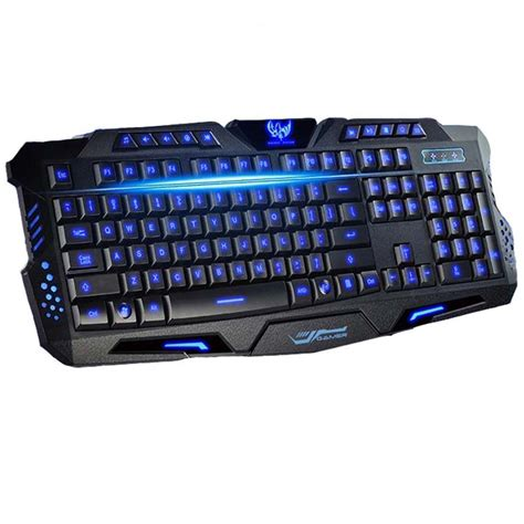 Keyboard Pc Gaming best version tri color led backlight flyingcolors mechanical touch gaming advanced