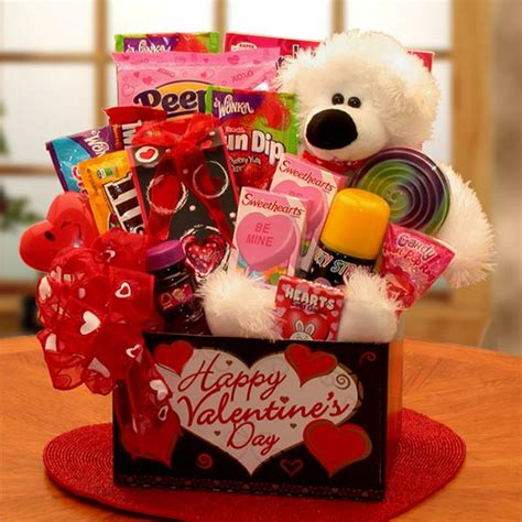 valentine presents kids bear hugs valentine s day gift basket