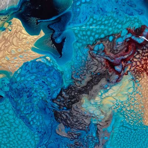 mixing acrylic paint with resin on canvas contemporary painting acrylic and resin w tracy felix