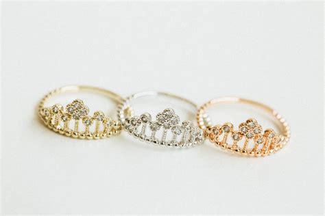 princess crown ring jewelry ring bridesmaid ring