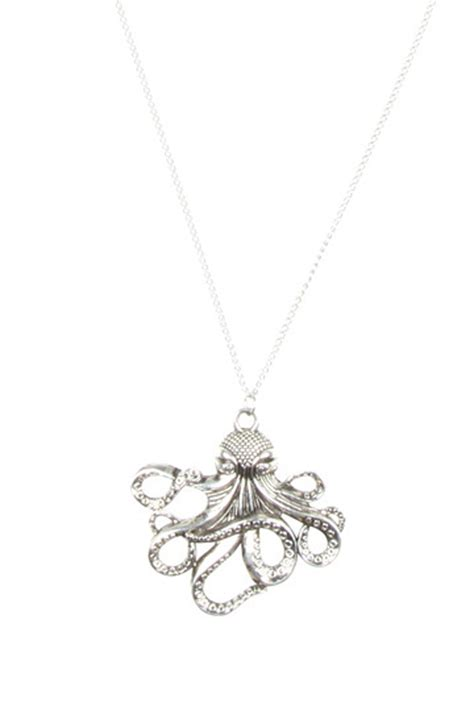 S F Sf6182qz Necklace Offwhite bliss octopus necklace from glendale by pink house