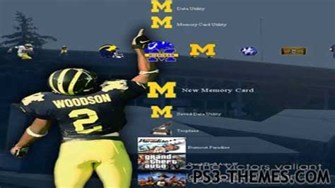 themes for mi ps3 themes 187 michigan football theme