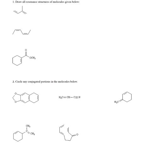 Drawing Resonance Structures by Solved Draw All Resonance Structures Of Molecules Given B