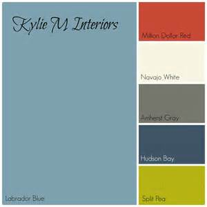 what colors go with grey labador blue by benjamin moore paint colour palette with red cream gray navy blue and green