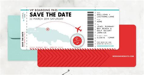 save the date ticket template boarding pass save the date template best boarding pass