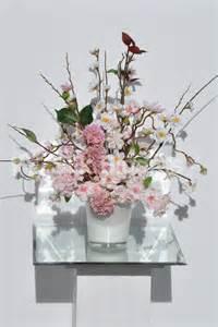 Cherry Blossom Arrangements by Pink Cherry Blossom Floral Arrangement W Hydrangea Ebay