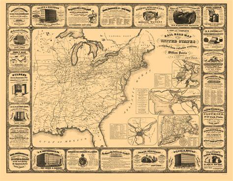 railroad map united states railroad maps united states railroads by perris 1857