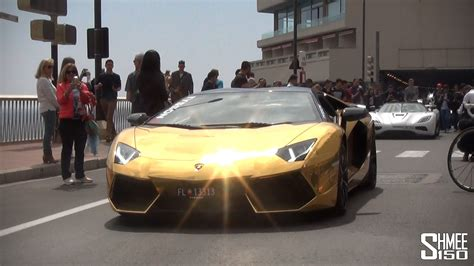gold koenigsegg gold aventador roadster and koenigsegg agera r spotted