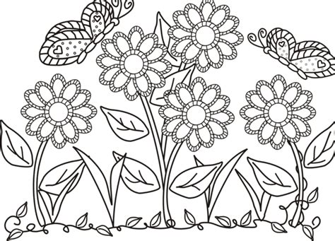 garden creatures coloring pages butterfly and flower in the garden colouring butterfly