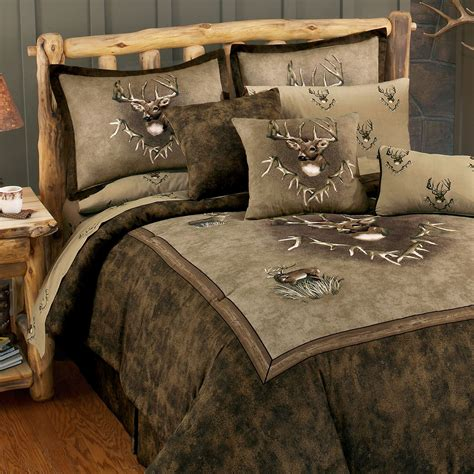 deer bedding set whitetail ridge deer comforter bedding from blue ridge trading