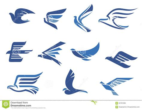 Flying Eagle Fast Blade Black Blue abstract fast flying blue birds stock vector image 60781066