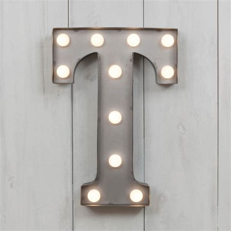 L With Light by T Vegas Metal 11 Quot Mini Led Letter Lights Industrial