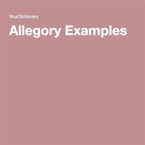 exle of allegory allegory exles