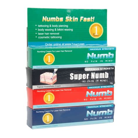 super numb tattoo numbing cream reviews 4pcs topical anesthetic cream tattoo numb set tmart