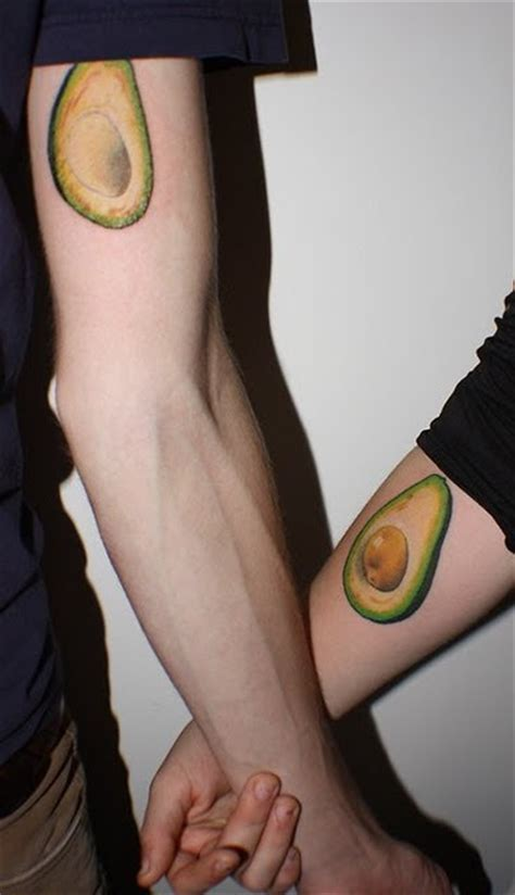 good couple tattoos avocado ones