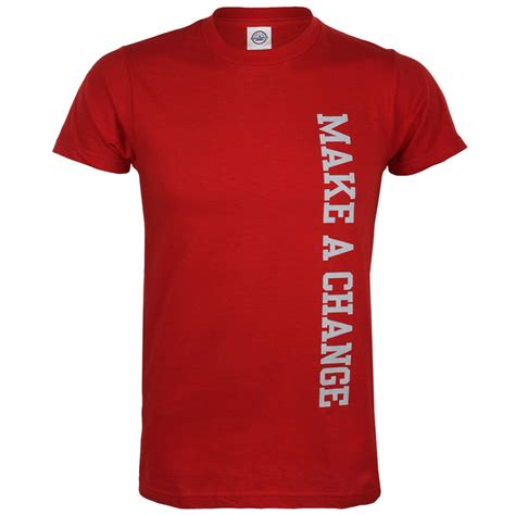 t shirt go red make a change men s red t shirt aha shop heart