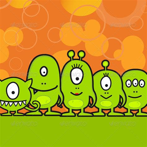 funny monster family graphicriver