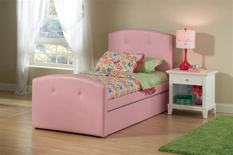 pink trundle bed hillsdale furniture laci bed w trundle twin pink by oj commerce 1581btwrt 575 99