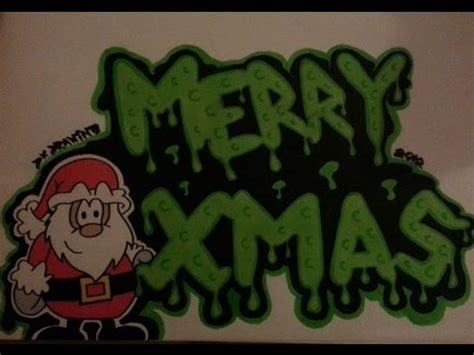 drawing bubble letters merry christmas xmas santa claus youtube
