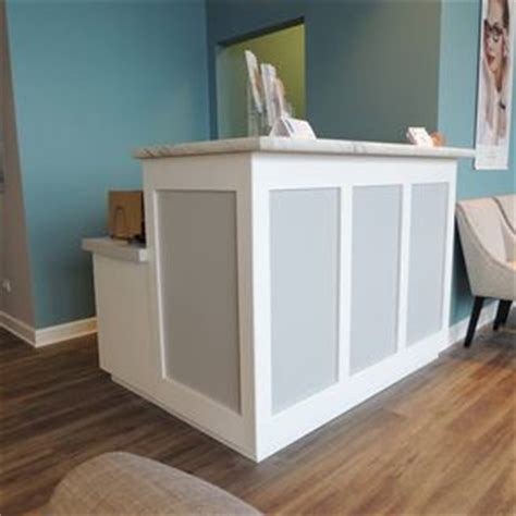 built in reception desk reception desks for offices and salons custommade com