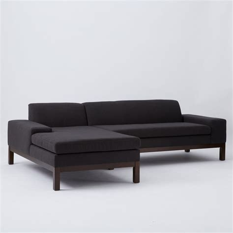 2 piece sectional sofa with chaise lorimer 2 piece chaise sectional