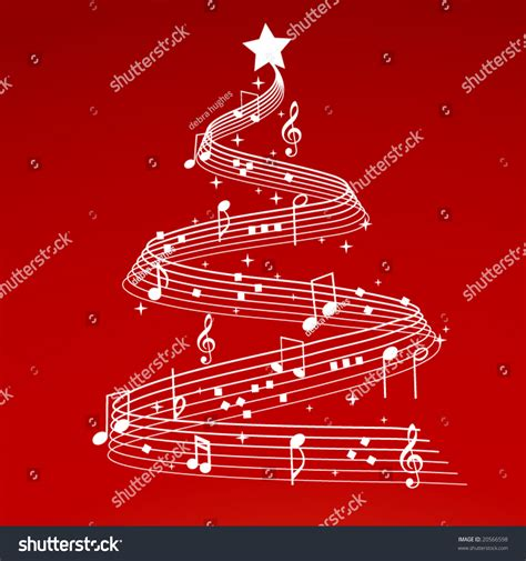 musical notes christmas tree image tree with musical notes stock vector illustration 20566598