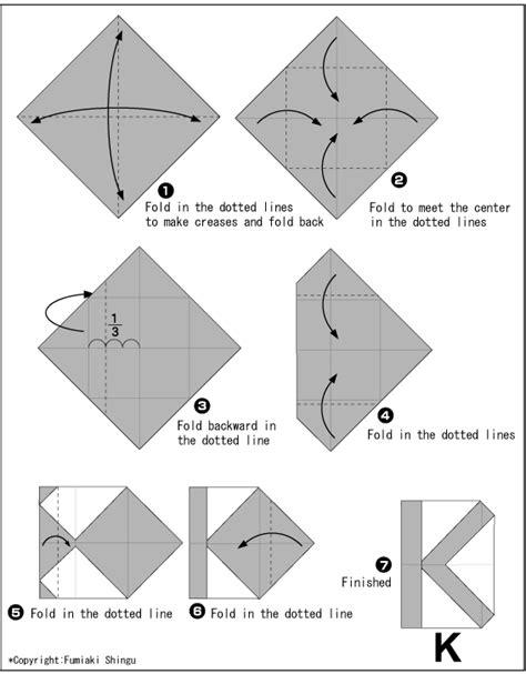 Alphabet Origami - origami alphabet k