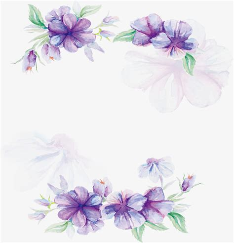 watercolor pattern with purple flowers vector free download watercolor purple flower poster vector png watercolor