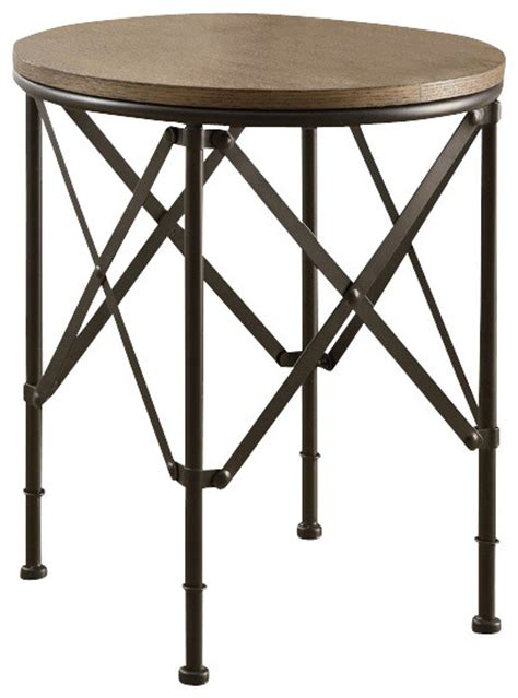 Bronze Accent Table Monarch Specialties 3318 Accent Table In Bronze Metal With Brown Veneer Traditional Side